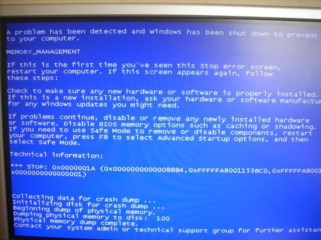 Ошибка с кодом 0x0000001a в Windows 7: избавляемся от синего экрана