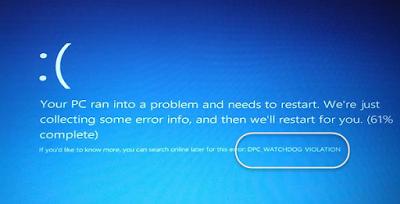Исправление ошибки dpc watchdog violation Windows 10 и 8