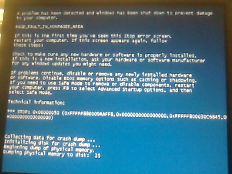 Как исправить ошибку 0x00000050 для Windows 7 и XP
