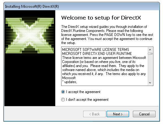 Переустановка/обновление DirectX
