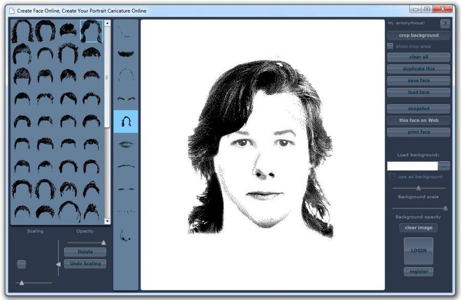 Как составить фоторобот человека онлайн pimptheface.com