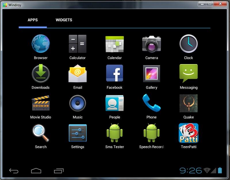 Windroy эмулятор Android для Windows