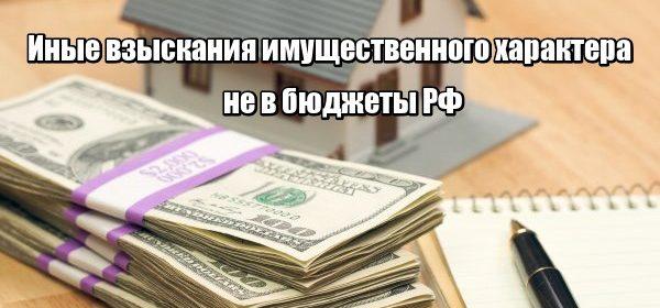 Иные взыскания имущественного характера не в бюджеты РФ: что делать?