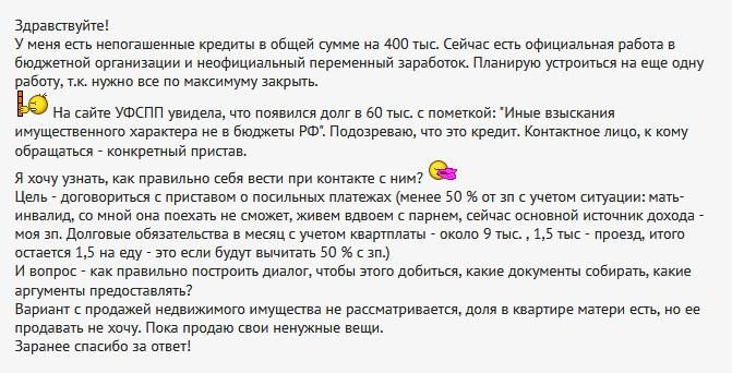 Иные взыскания имущественного характера не в бюджеты РФ отзывы людей