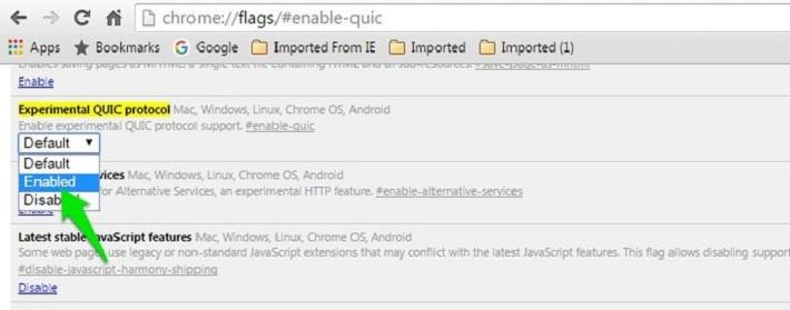 chrome://flags/#enable-quic отключите QUIC-протокол