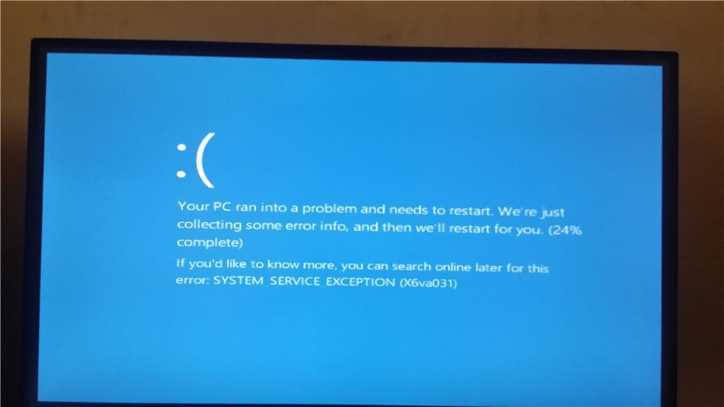 Исправление ошибки system service exception на Windows 7 и 10