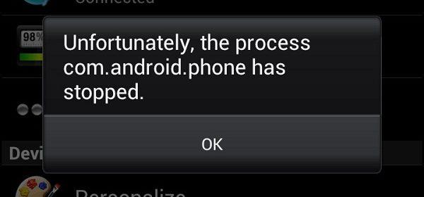 Как исправить ошибку com.android.phone и что делать