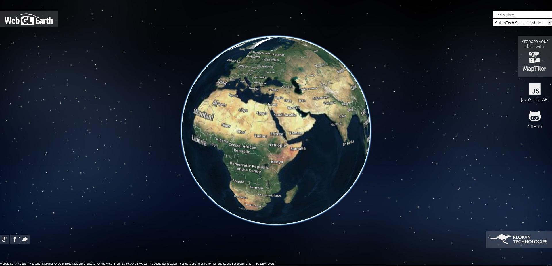 Онлайн глобус www.webglearth