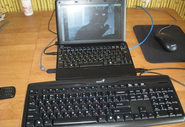 подключить клавиатуру к ноутбуку