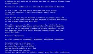 Исправить ошибку 0x00000109 синий экран на Windows 7